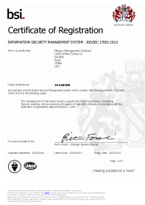 bsi ISO 27001 Certification