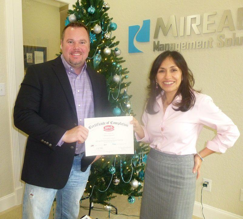 Miriam and Nelson Certificate API Q2