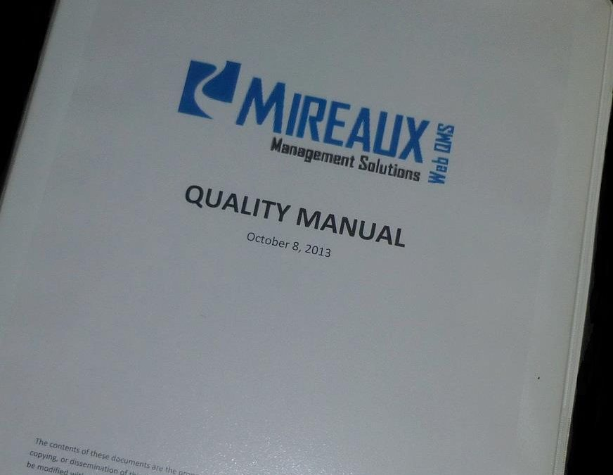Part 3 of 3: How to Write an ISO or API Compliant Quality Manual