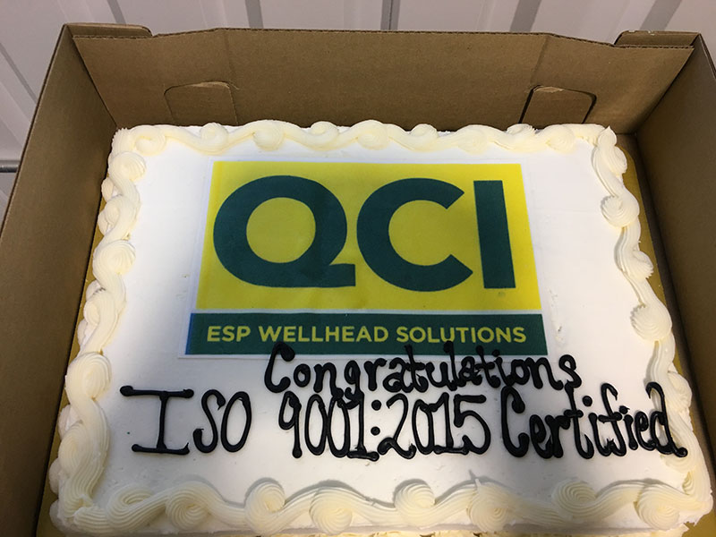 QCI celebrating ISO 9001:2015 certification