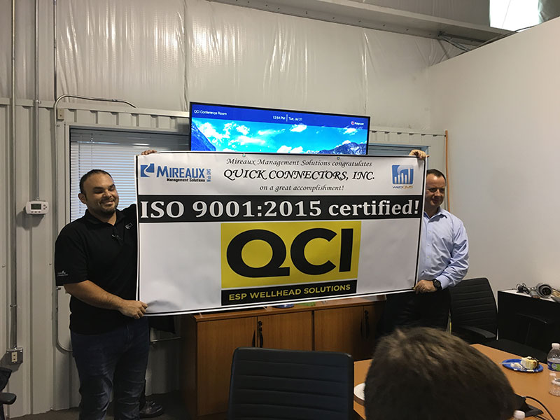 ESP Wellhead Solutions with ISO 9001:2015 Certification Banner