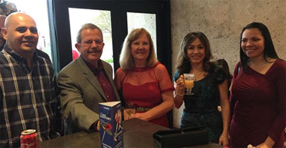 Mireaux Management Solutions team having a drink