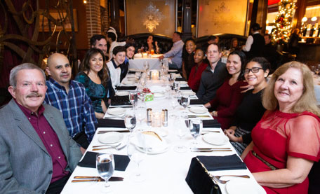 Dinner party of Mireaux Management Solutions team