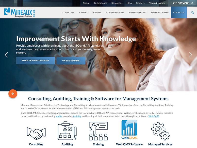 2019 MireauxMS.com Website Redesign