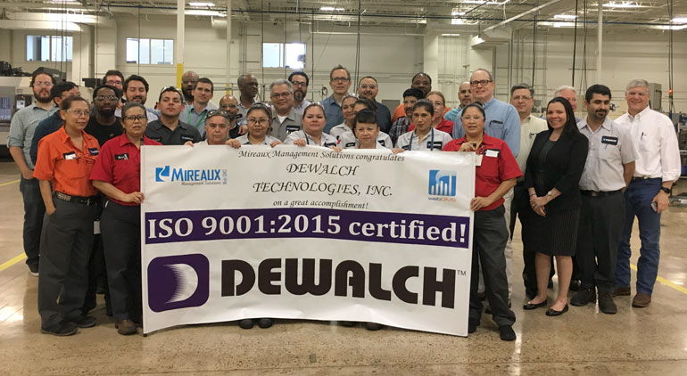 Mireaux helps DeWalch achieve ISO 9001 certification in under 4 months.
